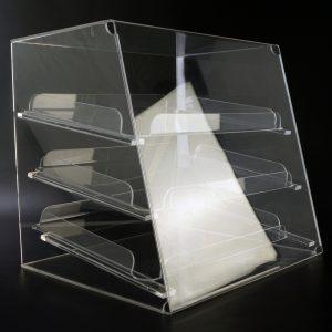 Original Spuckschutz® Süßwarenvitrine mit Etagen aus Acrylglas