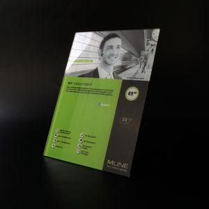 Folienbeschriftung für MLINE Mobiltelefone und -zubehör in Wien