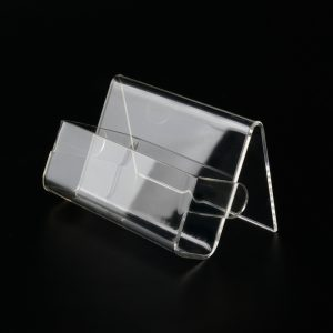 Visitenkartenhalter aus Acrylglas