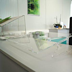 Dokumentenablage aus Acrylglas