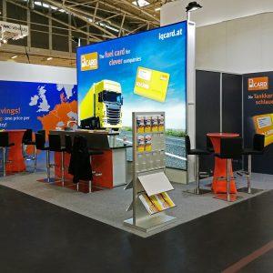 Messestand IQ Card auf der Transport Logistic Messe München