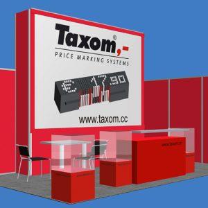 Messeplanung für TAXOM Preisauszeichnungssystem