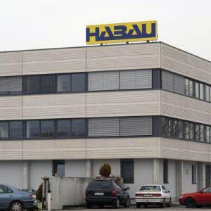 Gebäudebeschriftung für HABAU Hoch- und Tiefbau