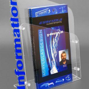 Infobox aus Acrylglas