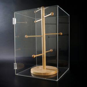 Original Spuckschutz® Brezenbox aus Acrylglas und Holz