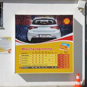 Digitaldruck für Shell Tankstelle
