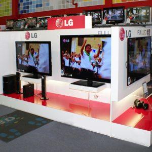 Displaybau für LG Flatscreens
