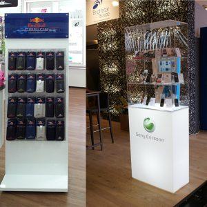 Display für Red Bull und Sony Ericsson