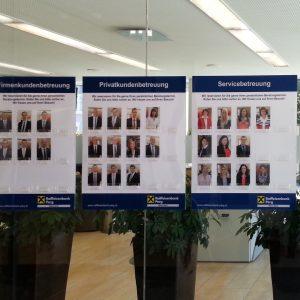 Digitaldruck | Visitenkartenhalter mit Bildern für Raiffeisenbank in Perg