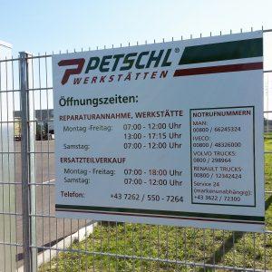 Foliengestaltung für Petschl Werkstätten in Perg
