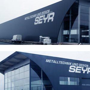 Gebäudebeschriftung für SEYR Metalltechnik und Design