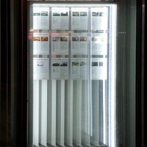 Lichtkasten bei Knoll Immobilien in Perg