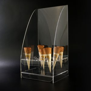 Spuckschutz® Eistütenhalter aus Acrylglas