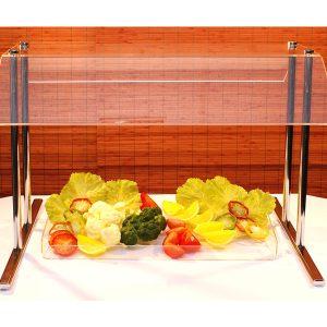 Spuckschutz® Abdeckung für Buffets aus Acrylglas und Metall